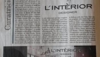 Redazionale L'INTERIOR DESIGNER_Marzo 2015